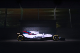 Williams Martini Racing FW40 Mercedes Launch. Grove, Oxfordshire, United Kingdom. February, 2017. The Williams FW40 Mercedes pre-test photo shoot. Photo: Drew Gibson/Williams Ref: FW40 side - 18