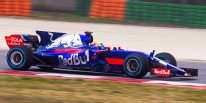 Carlos Sainz of Spain and Scuderia Toro Rosso drives the STR12 in Misano, Italy on February 22, 2017