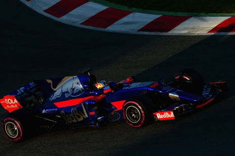 MONTMELO, SPAIN - MARCH 10: Carlos Sainz of Spain driving the (55) Scuderia Toro Rosso STR12 on track during the final day of Formula One winter testing at Circuit de Catalunya on March 10, 2017 in Montmelo, Spain. (Photo by Dan Istitene/Getty Images)