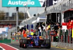 MELBOURNE, AUSTRALIA - MARCH 24: Daniil Kvyat of Russia driving the (26) Scuderia Toro Rosso STR12 in the Pitlane during practice for the Australian Formula One Grand Prix at Albert Park on March 24, 2017 in Melbourne, Australia. (Photo by Clive Mason/Getty Images)